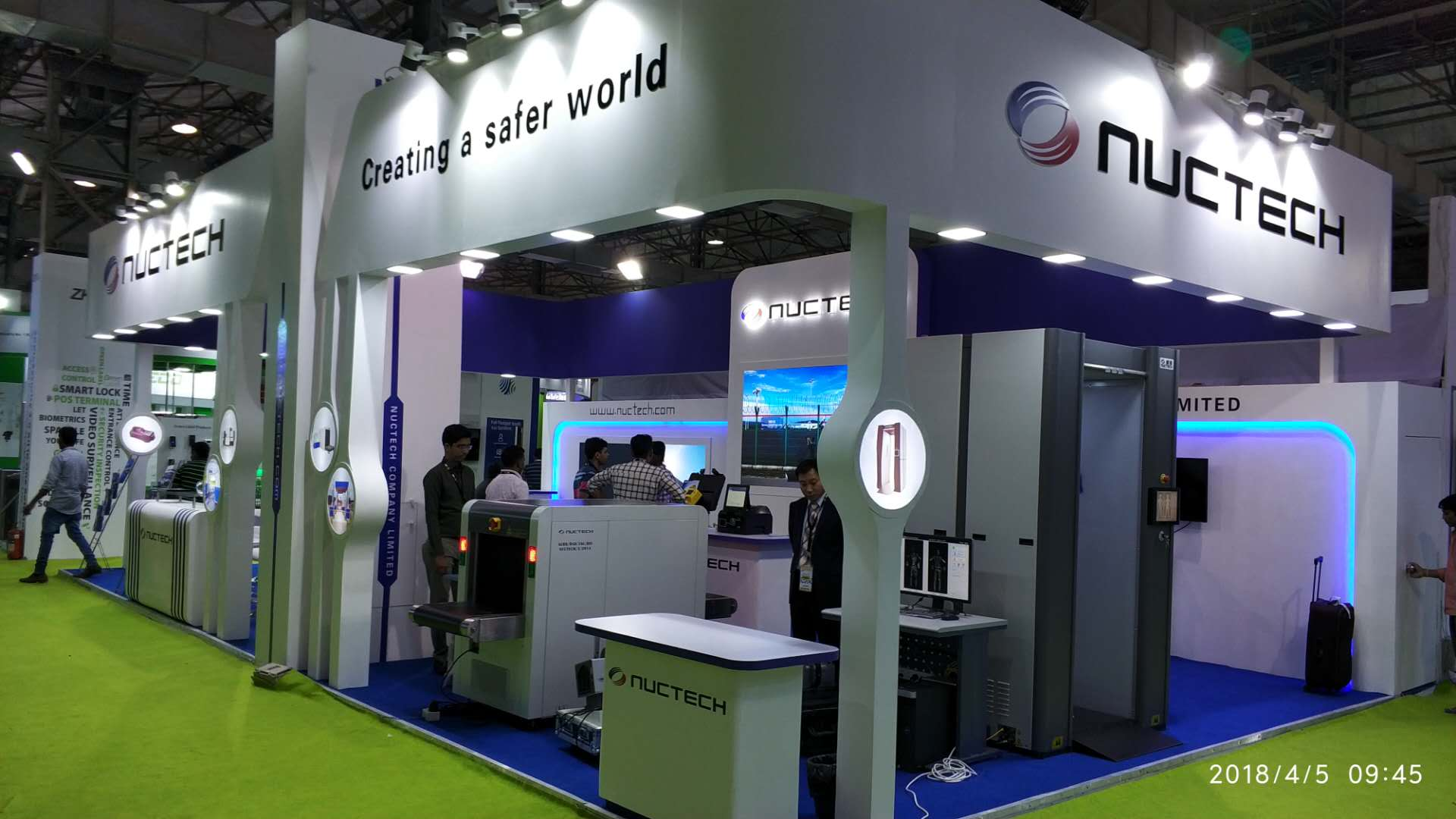 Nuctech participated in the 2018 Secutech India Exhibition